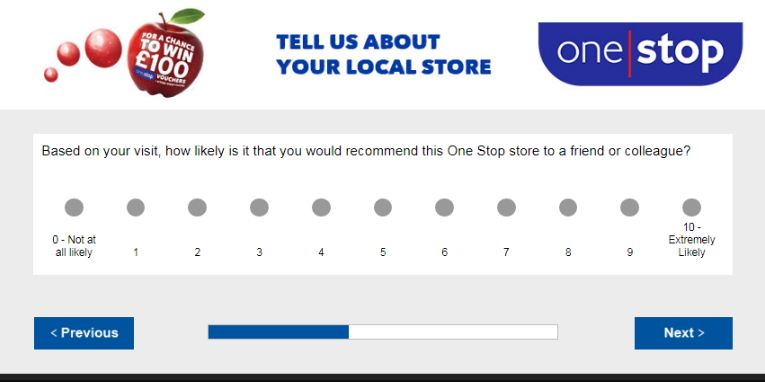 One Stop Feedback Survey
