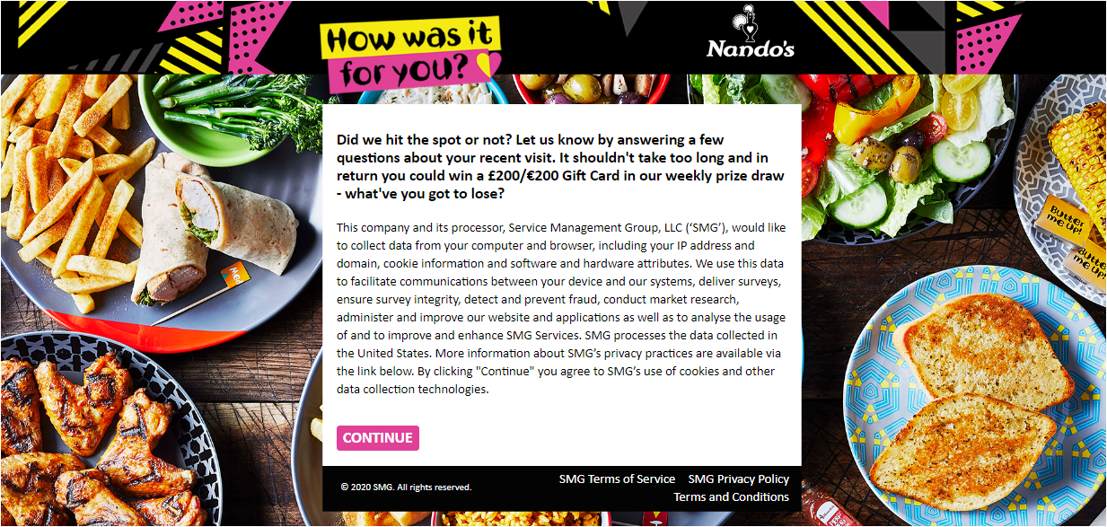 feedback.nandos.co.uk Survey